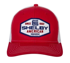 Shelby American Red Trucker Hat