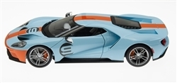 1:18 2017 Ford GT #9 Light Blue with Orange Stripe Diecast