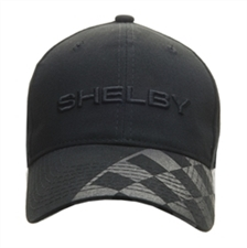 Black on Black Checkered Brim Hat