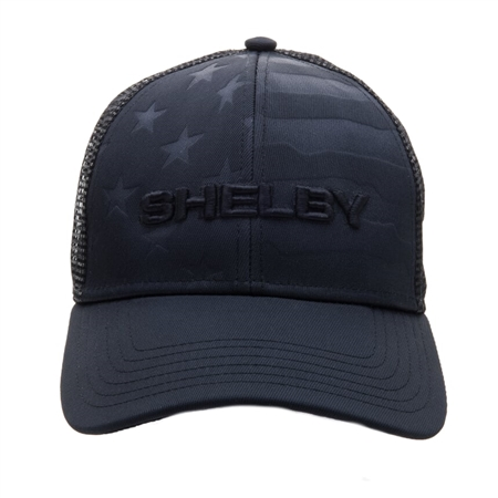 Black on Black Flag Mesh Back Hat