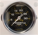 "Shelby Carbon Fiber Boost Gauge 2-1/16"" mechanical"