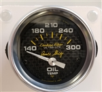"Shelby Carbon Fiber Oil Temperature Gauge 2-1/16"" electrical"