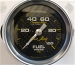 "Shelby Carbon Fiber Fuel Pressure Gauge 2-1/16"" electrical"