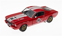 1:24 1965 Red Shelby GT350 Coca Cola #86 Diecast