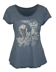 Ladies Shelby Since 1962 Split Back Tee