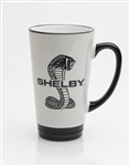 Super Snake Tall Cafe Mug- Black & White