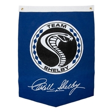 Team Shelby Pennant Blue Banner
