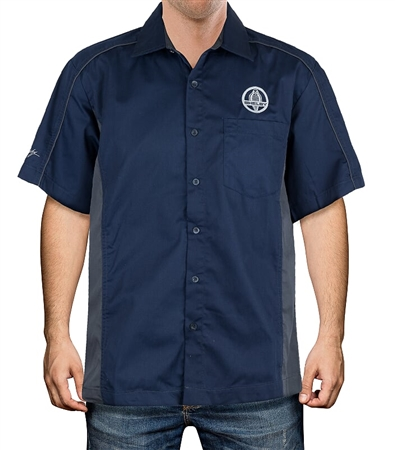 Shelby Cobra Navy and Charcoal Mechanic Shirt