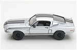 1:18 1968 Chrome Shelby Mustang GT500KR Diecast
