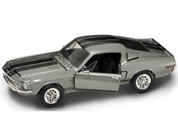 1:18 1968 Silver Shelby Mustang GT500KR Diecast