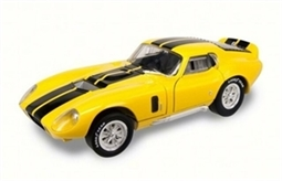 1:18 1965 Yellow Shelby Cobra Daytona Coupe Diecast
