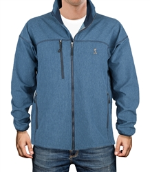 Heather Blue Lightweight Softshell Jacket