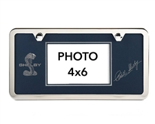 Blue Shelby License Plate Picture Frame