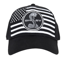 White American Flag on Black Hat