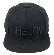 Shelby Tonal Black Flat Bill Hat