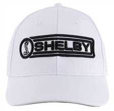 Shelby Perforated White Cap
