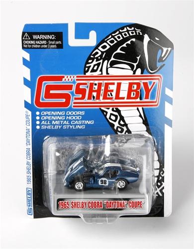 1:64 1965 Shelby Cobra Daytona Coupe Blue w/ White Stripes