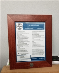 Shelby American Certificate Frame