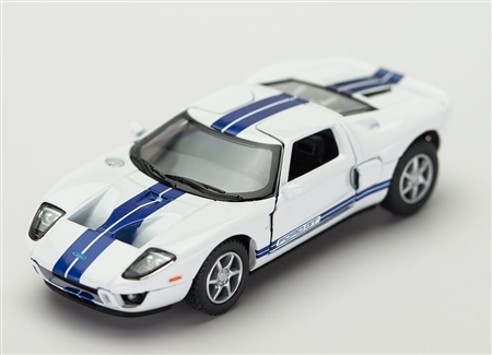1:36 2006 White Ford GT Diecast