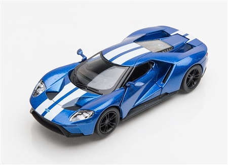 1:38 2017 Blue Ford GT Diecast