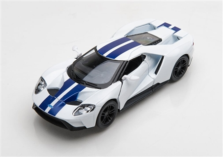 1:38 2017 White Ford GT Diecast