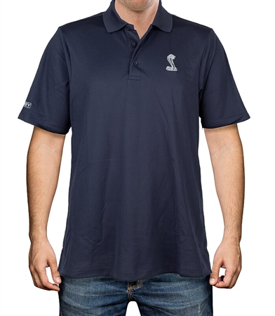 Performance Plaited Navy Polo