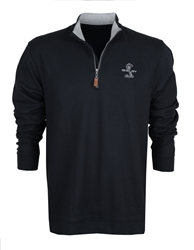 Super Snake Black Quarter Zip