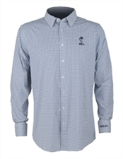 Shelby Snake Windowpane Navy Button Down Shirt