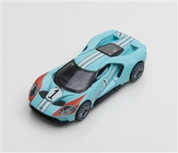 1:64 2017 Blue Ford GT 1966 #1 Ford GT40 Mk II Tribute Diecast
