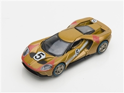 1:64 2017 Gold Ford GT 1966 #5 Ford GT40 Mk II Tribute Diecast