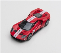 1:64 2017 Red Ford GT 1966 #1 Ford GT40 Mk II Tribute Diecast