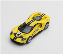 1:64 2017 Yellow Ford GT 1966 #2 Ford GT40 Mk II Tribute Diecast