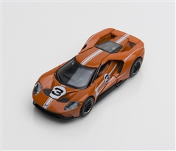 1:64 2017 Orange Ford GT 1966 #3 Ford GT40 Mk II Tribute Diecast