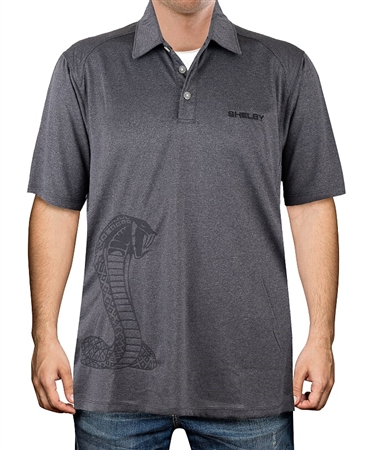 Shelby Heather Charcoal Polo