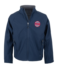 Youth Shelby Racing Soft Shell Navy Jacket