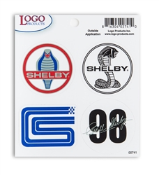 Shelby Logo Decals - 4 pack