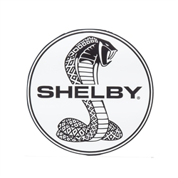 Black and White Shelby Super Snake Round Decal