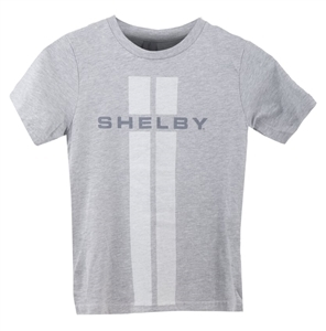 Youth Double Stripe Grey T-Shirt