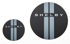 Shelby Black Double Stripes Magnet