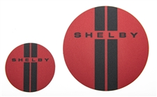 Shelby Red Double Stripes Magnet