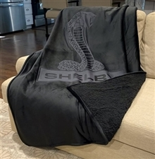 Shelby Black Sherpa Blanket