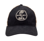 Shelby Snake Soft Mesh Black Hat