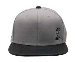 Snake Grey Flat Bill Hat