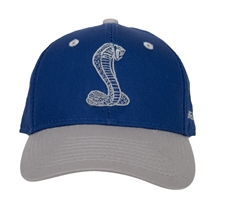 Youth Shelby Royal Blue and Grey Hat