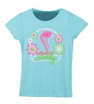 Girls Flowery Cancun Blue Tee