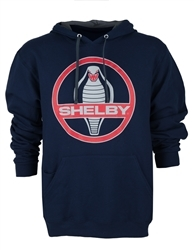 Shelby Cobra Medallion Navy Pullover Hoody