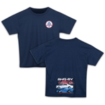Youth Shelby Race Cars Navy Tee