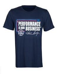 """Performance is our Business"" Navy Tee"