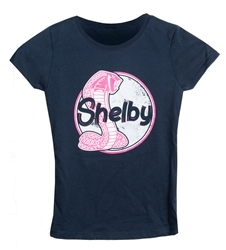Girls Navy Shelby Tee