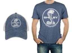 Vintage Shelby Snake Blue Tee & Hat Combo